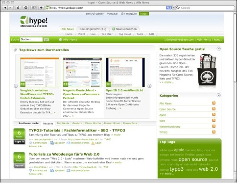 hype! - Open Source- und Web-News