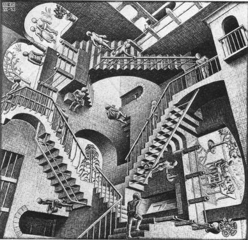 Original M.C. Escher 'Relativity'